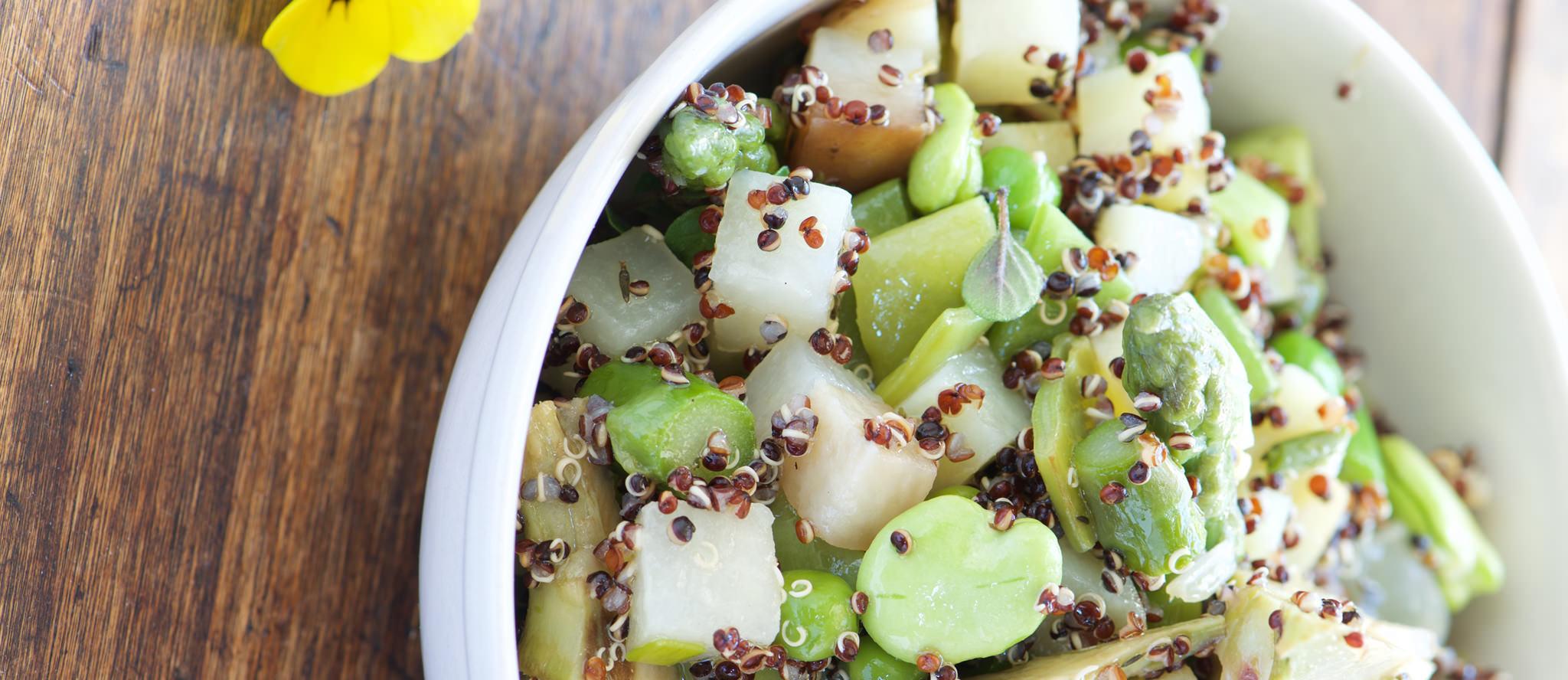 Salade de quinoa noir bandeaus