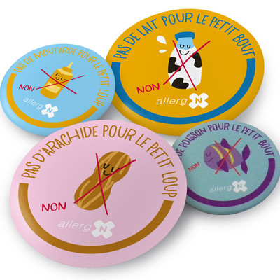 Badges allergies alimentaires web