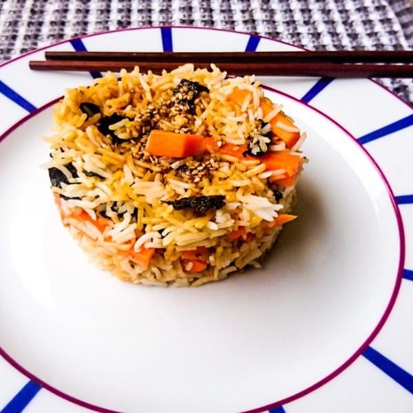 Rice veggie asian