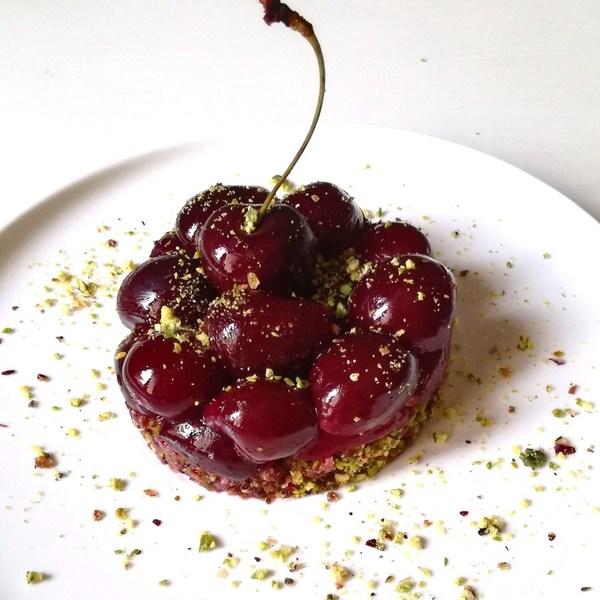 Tartelette cerise pistache  carr%c3%a9