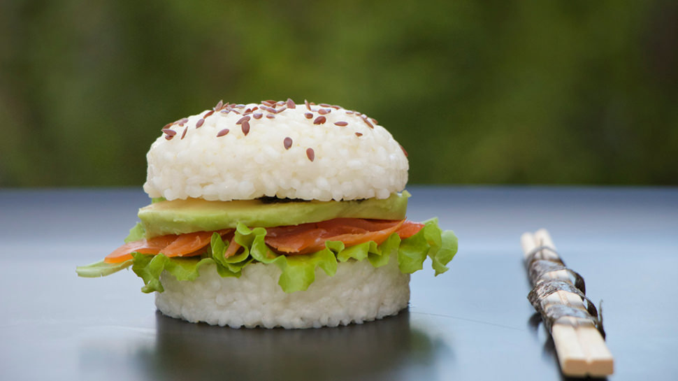 Rect sushi burgers