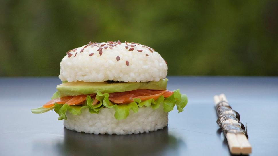 Rect sushi burgers