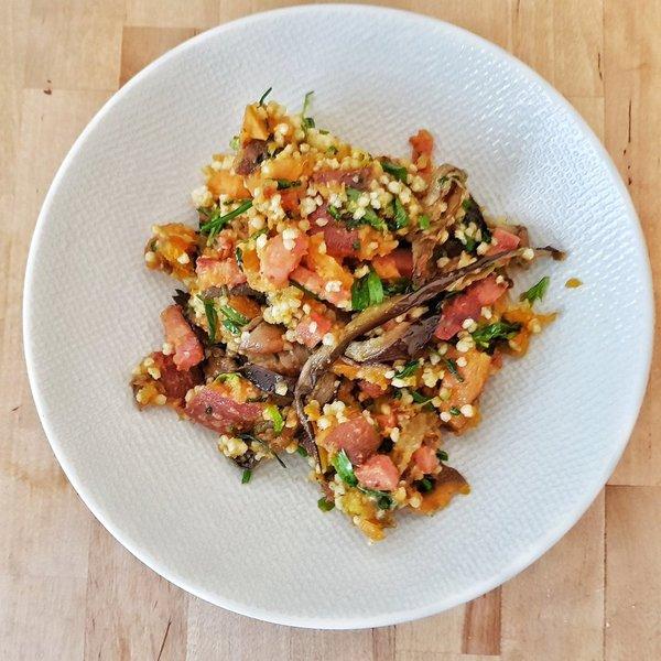 Salade complete millet lentilles corail patates douces