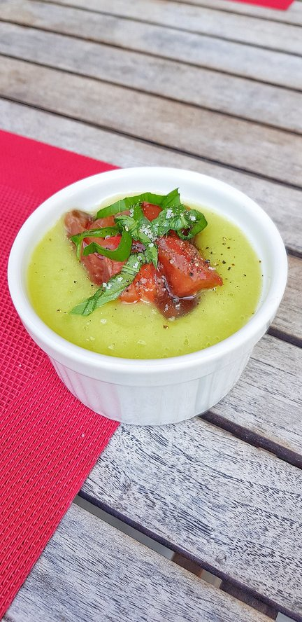 Veloute%cc%81 glace%cc%81 100  courgettes
