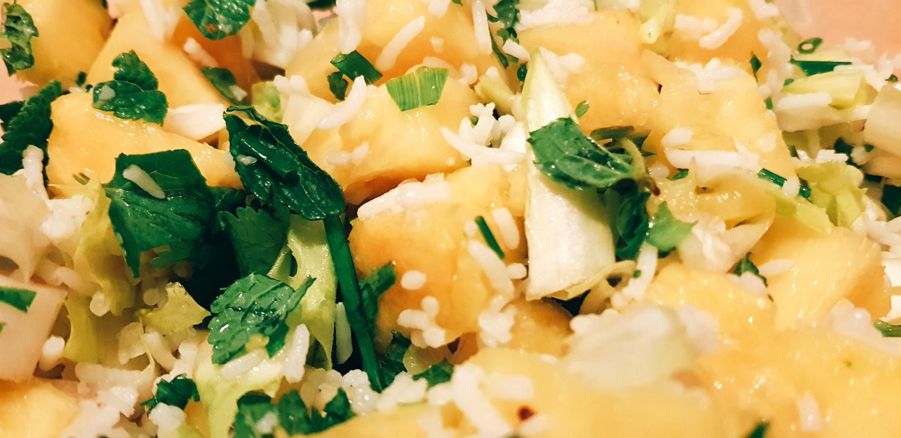 Salade de riz ananas